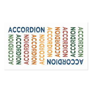 Accordion Cute Colorful Business Card