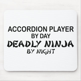 Accordion Deadly Ninja by Night Mouse Pad