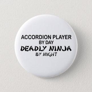 Accordion Deadly Ninja by Night Pinback Button