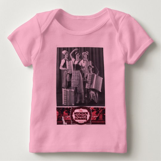 Accordion Girls Vintage Ad Baby T-Shirt