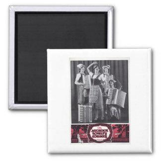 Accordion Girls Vintage Ad Magnet