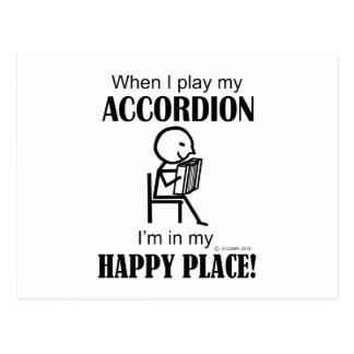 Accordion Happy Place Postcard