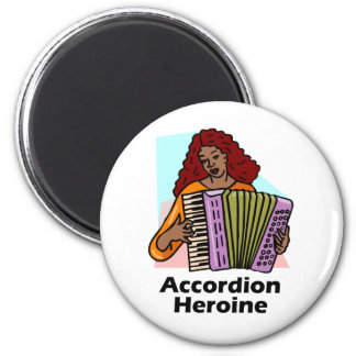 Accordion Heroine 2 Inch Round Magnet