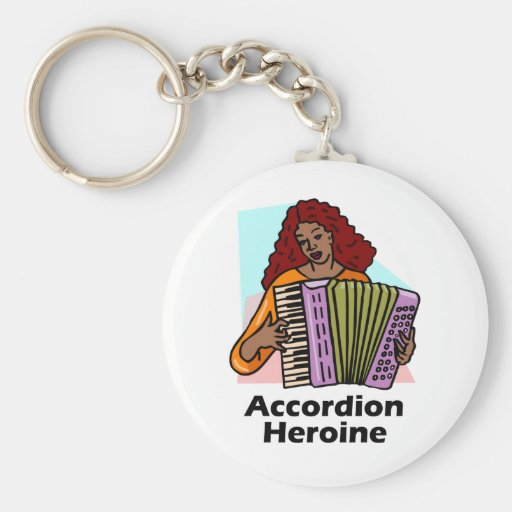 Accordion Heroine Basic Round Button Keychain
