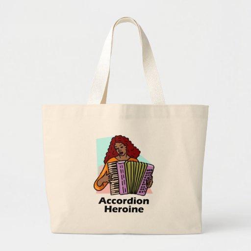 Accordion Heroine Canvas Bags
