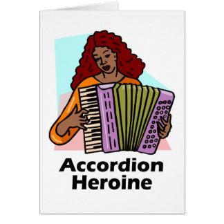 Accordion Heroine Card