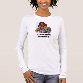 Accordion Heroine Long Sleeve T-Shirt