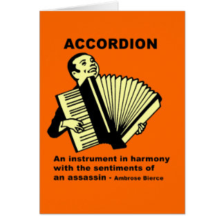 Accordion (humorously defined) card