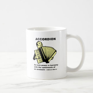 Accordion (humorously defined) coffee mug