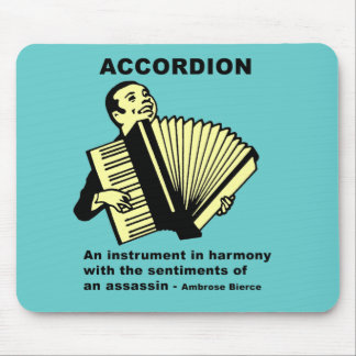 Accordion (humorously defined) mouse pad