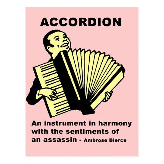 Accordion (humorously defined) postcard