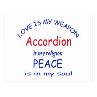accordion is my religion postcard