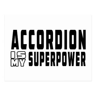 Accordion Is My Superpower Postcard