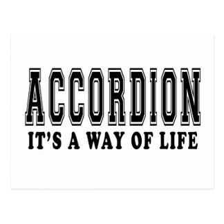 Accordion It's way of life Postcard