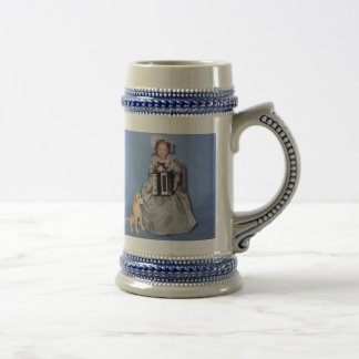 ACCORDION LADY BEER STEIN