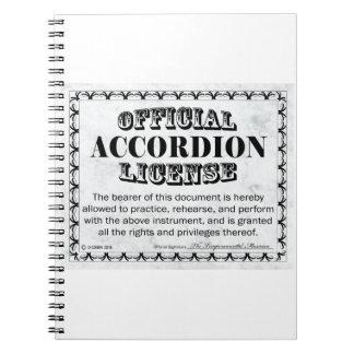 Accordion License Notebook