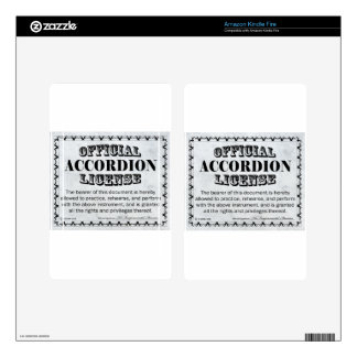 Accordion License Skin For Kindle Fire