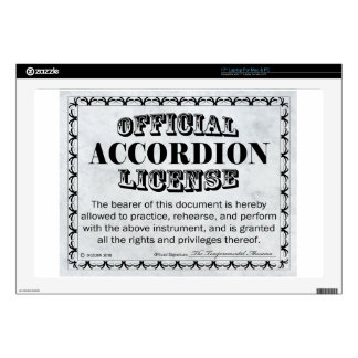 Accordion License Skin For Laptop