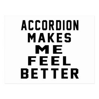 Accordion Makes Me Feel Better Postcard