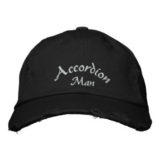 Accordion Man Custom Embroidered Hat