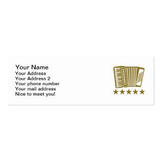 Accordion Mini Business Card