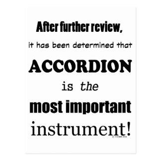 Accordion Most Important Instrument Postcard