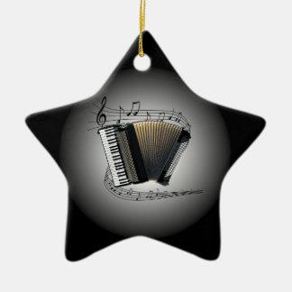Accordion ~  Musical Globe ~ Musical Scale ~ Ceramic Ornament