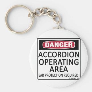 Accordion Operating Area Basic Round Button Keychain