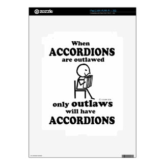 Accordion Outlawed Decal For iPad 2