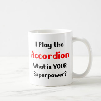 Accordion player coffee mug