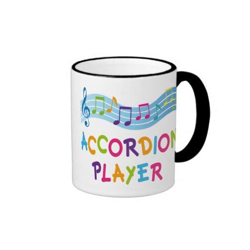 ACCORDION PLAYER COLORED COFFEE MUGS