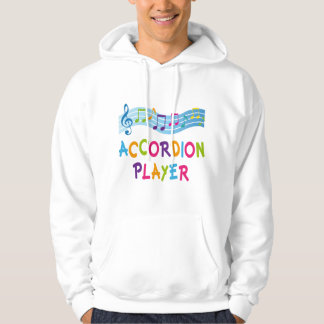 ACCORDION PLAYER COLORED HOODIE