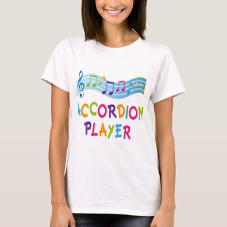 ACCORDION PLAYER COLORED T-Shirt