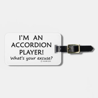 Accordion Player Excuse Tag For Luggage