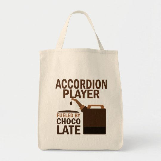 Accordion Player (Funny) Chocolate Tote Bag