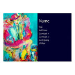 ACCORDION PLAYER IN THE NIGHT, blue Business Card Templates