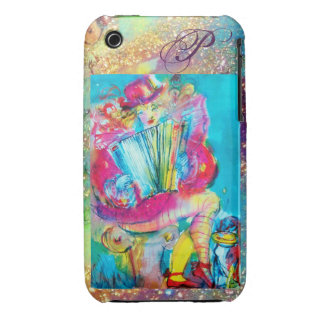 ACCORDION PLAYER IN THE NIGHT MONOGRAM Case-Mate iPhone 3 CASE