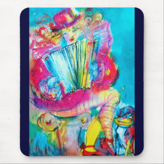ACCORDION PLAYER IN THE NIGHT MOUSE PAD