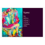 ACCORDION PLAYER IN THE NIGHT, purple Business Card Template