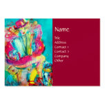 ACCORDION PLAYER IN THE NIGHT, red Business Cards