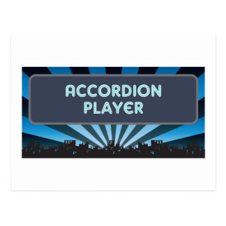 Accordion Player Marquee Postcard
