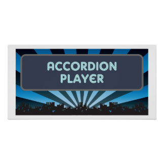 Accordion Player Marquee Posters