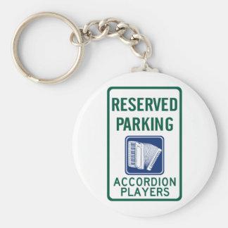 Accordion Player Parking Basic Round Button Keychain