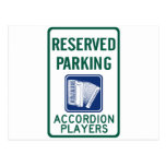 Accordion Player Parking Postcards