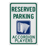 Accordion Player Parking Poster