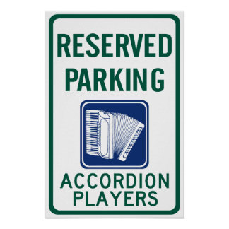 Accordion Player Parking Posters