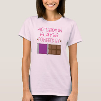 Accordion Player Powered by Chocolate Gift T-Shirt
