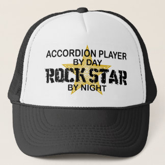 Accordion Player Rock Star by Night Trucker Hat