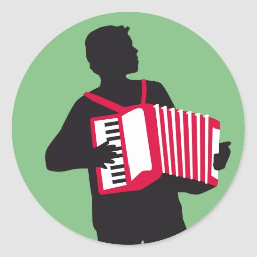 Accordion player stickers