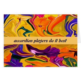 accordion players humor card